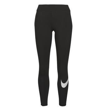Îmbracaminte Femei Colanti Nike NSESSNTL GX MR LGGNG SWSH Negru / Alb