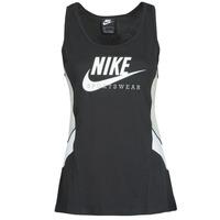 Îmbracaminte Femei Maiouri și Tricouri fără mânecă Nike NSHERITAGE TTOP HBR Negru / Gri / Alb
