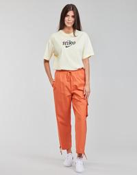 Îmbracaminte Femei Pantaloni de trening Nike NSICN CLASH PANT CANVAS HR Maro / Portocaliu