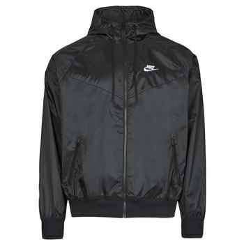 Îmbracaminte Bărbați Jacheta de vânt Nike NSSPE WVN LND WR HD JKT Negru / Alb