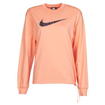 Îmbracaminte Femei Tricouri cu mânecă lungă  Nike NSICN CLSH LS TOP HBR Roz / Violet