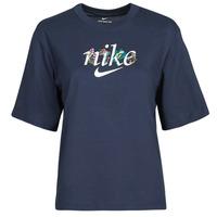 Îmbracaminte Femei Tricouri mânecă scurtă Nike NSTEE BOXY NATURE Albastru