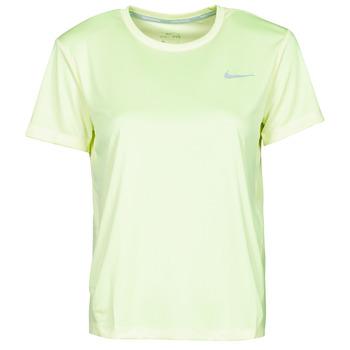 Îmbracaminte Femei Tricouri mânecă scurtă Nike MILER TOP SS Verde / Gri