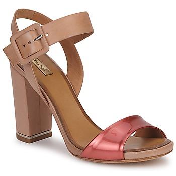 Pantofi Femei Sandale și Sandale cu talpă  joasă Eva Turner CHANTEVIEL Bronz / Roșu
