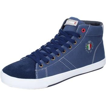 Pantofi Bărbați Pantofi sport stil gheata Armata Di Mare Sneakers Tela Camoscio Blu
