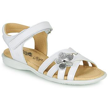 Pantofi Fete Sandale  Citrouille et Compagnie HERTUNE Alb