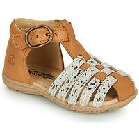 Pantofi Fete Sandale  Citrouille et Compagnie RINE Camel / Camaieu / Auriu