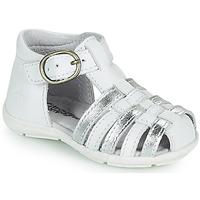 Pantofi Fete Sandale  Citrouille et Compagnie RINE Alb / Argintiu
