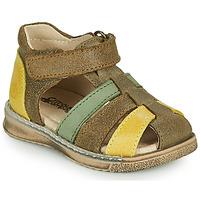 Pantofi Băieți Sandale  Citrouille et Compagnie FRINOUI Kaki