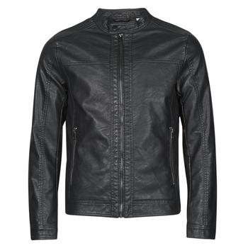Îmbracaminte Bărbați Jachete din piele și material sintetic Jack & Jones JJEWARNER Negru