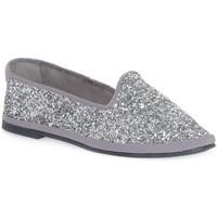 Pantofi Femei Balerin și Balerini cu curea Priv Lab GLITTER ARGENTO Grigio