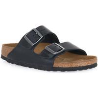 Pantofi Papuci de vară Birkenstock ARIZONA BLACK OILED CALZ S Nero
