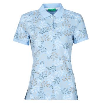 Îmbracaminte Femei Tricou Polo mânecă scurtă Benetton CHOLU Albastru