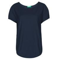 Îmbracaminte Femei Tricouri mânecă scurtă Benetton FOLLIA Albastru