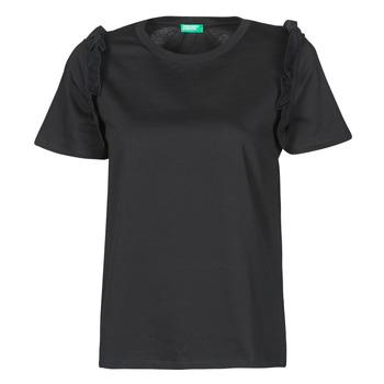 Îmbracaminte Femei Tricouri mânecă scurtă Benetton MARIELLA Negru
