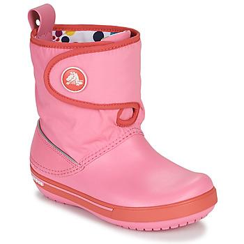 Pantofi Copii Cizme de zapadă Crocs CROCBAND ll.5 GUST BOOT KIDS PLEM PPY Roz