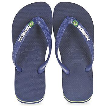 Pantofi  Flip-Flops Havaianas BRASIL LOGO Bleumarin