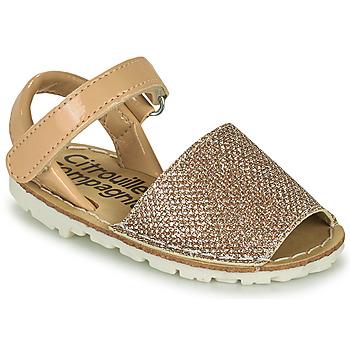 Pantofi Fete Sandale  Citrouille et Compagnie SQUOUBEL Bej
