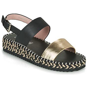 Pantofi Femei Sandale  Café Noir GRISLI Negru / Auriu