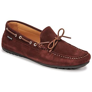 Pantofi Bărbați Mocasini Pellet Nere Bordo