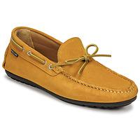 Pantofi Bărbați Mocasini Pellet Nere Galben