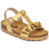 Pantofi Fete Sandale  Citrouille et Compagnie KAPIBA Auriu