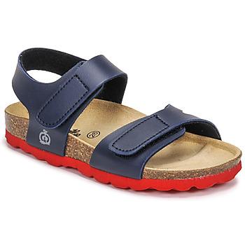 Pantofi Băieți Sandale  Citrouille et Compagnie BELLI JOE Albastru / Roșu
