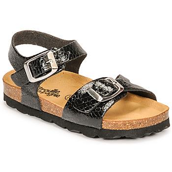 Pantofi Fete Sandale  Citrouille et Compagnie RELUNE Negru / șarpe