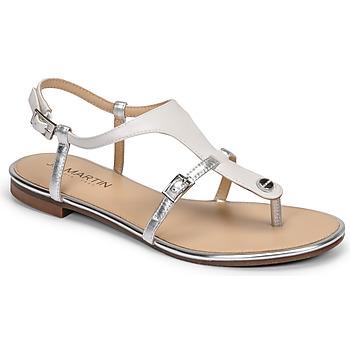 Pantofi Femei Sandale  JB Martin GAELIA Alb / Argintiu