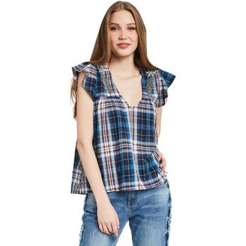 Îmbracaminte Femei Topuri și Bluze Gaudi 011BD45007 Albastru