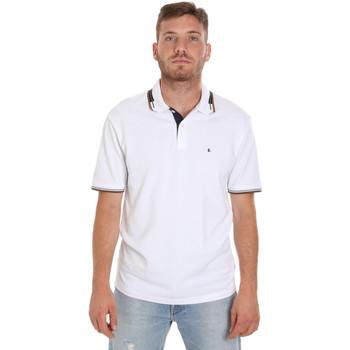 Îmbracaminte Bărbați Tricou Polo mânecă scurtă Les Copains 9U9021 Alb