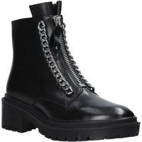 Pantofi Femei Ghete Apepazza F0COMBAT10/LEA Negru