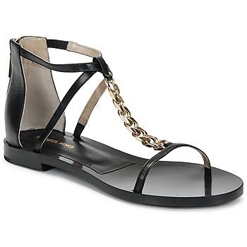 Încăltăminte Femei Sandale și Sandale cu talpă  joasă Michael Kors ECO LUX Negru
