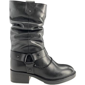 Pantofi Femei Cizme casual Apepazza F0BEATRIX01/LEA Negru