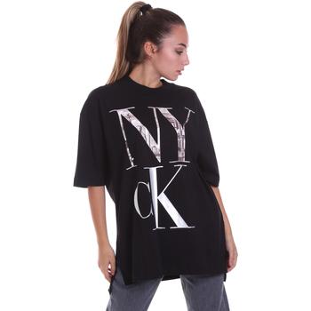 Îmbracaminte Femei Tricouri mânecă scurtă Calvin Klein Jeans J20J214436 Negru