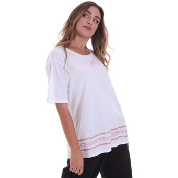Îmbracaminte Femei Tricouri mânecă scurtă Ea7 Emporio Armani 6HTT32 TJ52Z Alb
