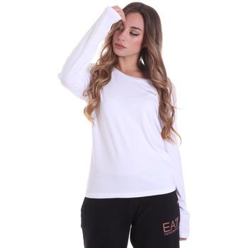 Îmbracaminte Femei Tricouri cu mânecă lungă  Ea7 Emporio Armani 6HTT04 TJ28Z Alb