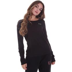Îmbracaminte Femei Tricouri cu mânecă lungă  Ea7 Emporio Armani 6HTT04 TJ28Z Negru