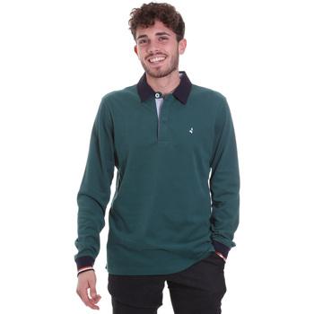 Îmbracaminte Bărbați Tricou Polo manecă lungă Navigare NV32023 Verde