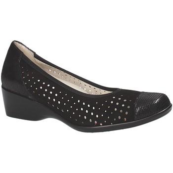 Pantofi Femei Balerin și Balerini cu curea Melluso R30520 Negru