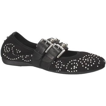 Pantofi Femei Balerin și Balerini cu curea Mally 6097 Negru