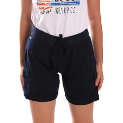 Îmbracaminte Femei Pantaloni scurti și Bermuda Key Up 5G75F 0001 Albastru