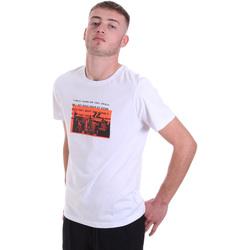 Îmbracaminte Bărbați Tricouri mânecă scurtă Antony Morato MMKS01880 FA100144 Alb