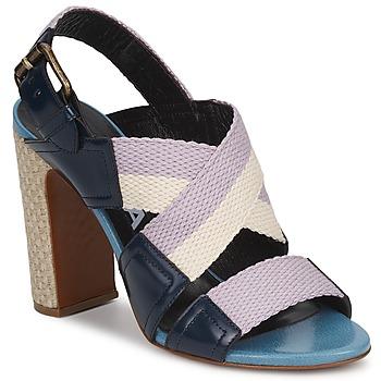 Pantofi Femei Sandale  Rochas NASTR Negru / Violet / Ecru