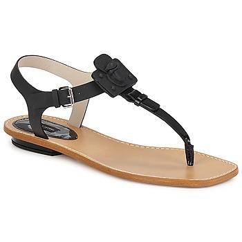 Încăltăminte Femei Sandale și Sandale cu talpă  joasă Marc Jacobs CHIC CALF Negru