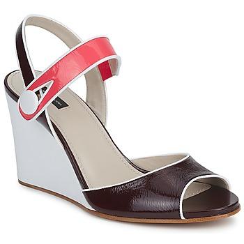 Încăltăminte Femei Sandale și Sandale cu talpă  joasă Marc Jacobs VOGUE GOAT Roșu-bordeaux / Roz