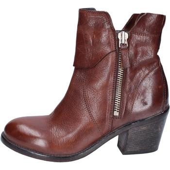 Pantofi Femei Botine Moma Stivaletti Pelle Marrone