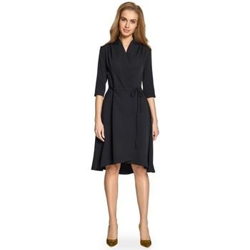 Îmbracaminte Femei Rochii scurte Style S099 Rochie cu tiv asimetric - negru