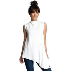 Îmbracaminte Femei Topuri și Bluze Be B069 Top asimetric fără mâneci - ecru