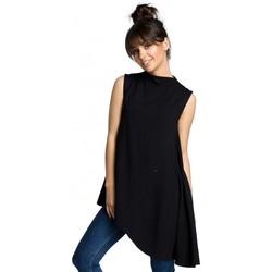 Îmbracaminte Femei Topuri și Bluze Be B069 Top asimetric fără mâneci - negru